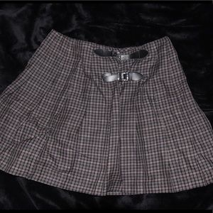 Dresses & Skirts - Vintage Plaid/Tartan Skirt with Buckle